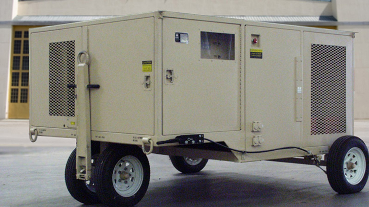 80kW diesel generator; 208 V, 60 Hz, 3 phase power; Power Supply; Aerospace Solutions