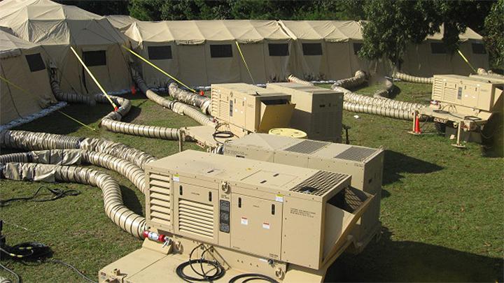 GETT; ECU Tent Trailer; Generator ECU Tent Trailer; 6115-01-605-1988; TAMCN B01237B; GETT25P120; M1102 Light Tactical Trailers; COC; USMC; combat operations center;